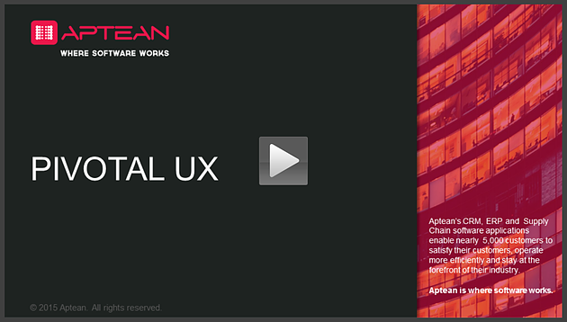 Screencast pivotal ux